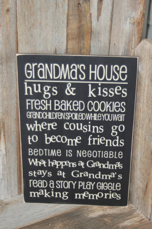 GRANDMA'S HOUSE Subway Art decor wall hanging - Board