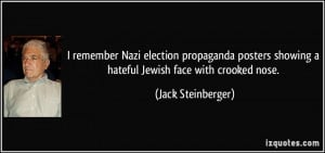 remember Nazi election propaganda posters showing a hateful Jewish ...