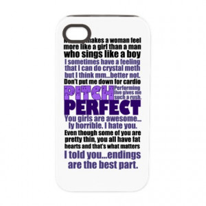 ... > Acapella Phone Cases > Pitch Perfect Quotes iPhone 4/4S Tough Case