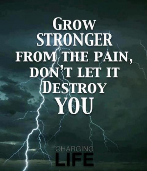 Tagged with: destroy • grow stronger • Pain