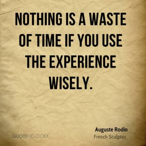 Auguste Rodin Time Quotes