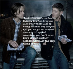 Sam and Dean + Merlin quote