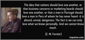 More E. M. Forster Quotes