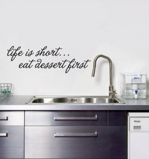 Life is short Kitchen Quote Wall Decal by StickerBoutique on Etsy, $12 ...