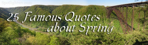 Famous Quotes About Spring