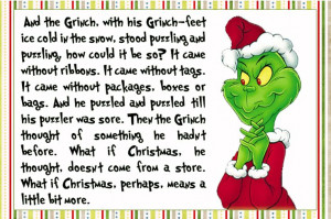 Grinch Christmas quote, card, tag, use for anything!