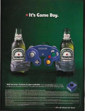 Heineken ads - Nintendo - it's game day