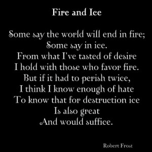 Fire and lee Robert frost English poetry