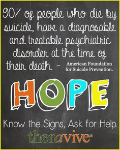 suicide awareness week know more help a teen today more suicide ...