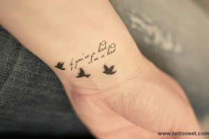 Tatuajes de pájaros con frases