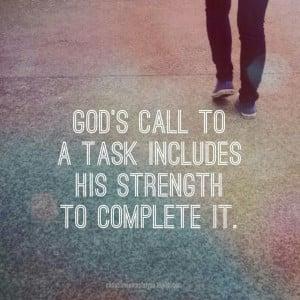 God's calling...