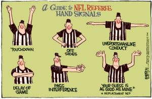 Today's Editorial Cartoon: Referee lessons for NFL