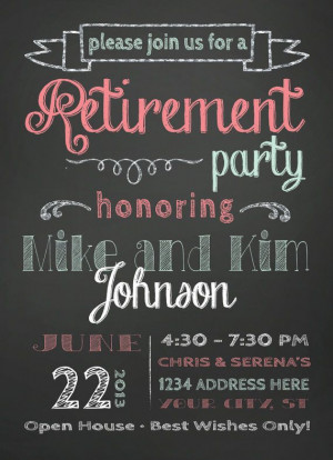 Party Invitation Party Retirement Invitation Template Ppt Backgrounds ...