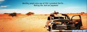Desert Cool Quote Rust Car Facebook Cover Facebook Cover