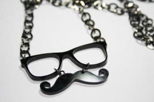 mustache, mustaches, mustage, necklace, nerd glasses, nerdfromparis