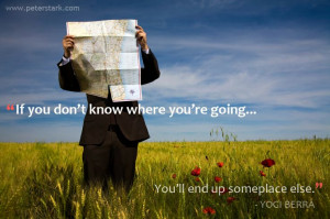 ... going, you will end up someplace else. - Yogi Berra | Leadership Quote