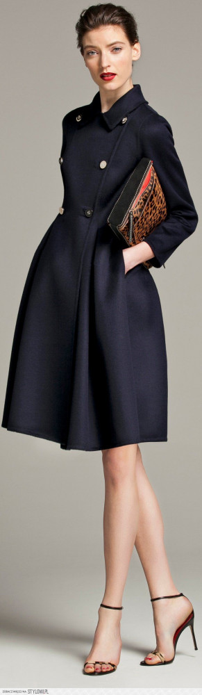 ... Coats, Dresses, Navy Coat, Carolina Herrera, Jackets, Carolinaherrera