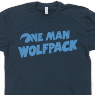 One Man Wolfpack T Shirt The Hangover Movie Funny Tees Wolf Pack ...