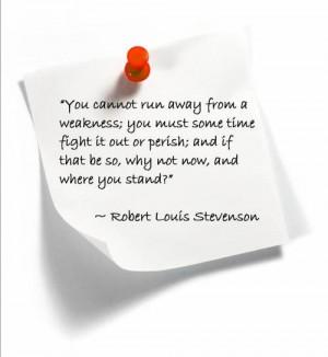 Robert Louis Stevenson quote