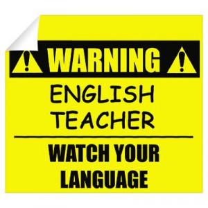 ... > Wall Art > Wall Decals > Warning: English Teacher Wall Decal