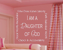 am a Daughter of God - Vinyl Wall Decal - Wall Quotes - Vinyl ...