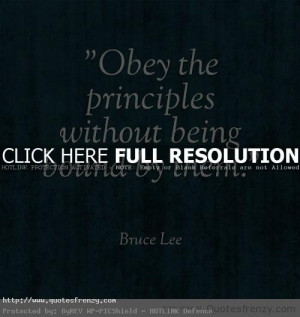 Obey The Principles Life Love Quotes