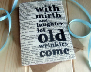 Shakespeare Quote Funny Birthday Ca rd 'with mirth and laughter' ...