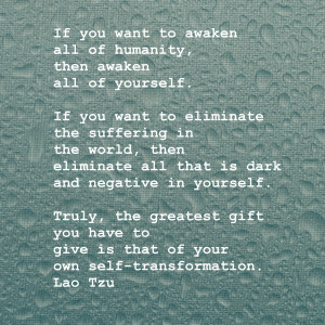 Wisdom Wednesday ~ A Quote from the Tao Te Ching