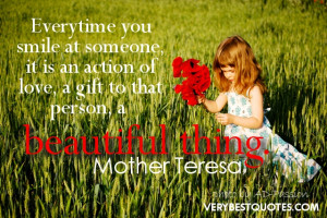 This may not be the most famous quote from Mother Teresa but it is one ...