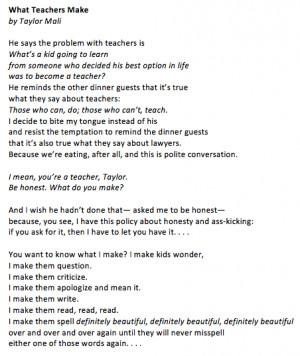 Taylor Mali excerpt