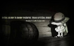 Monkey D. Luffy Quote - One Piece.