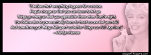 Marilyn Monroe Quote Facebook Covers