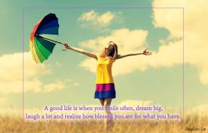 EmilysQuotes.Com - life, smile, dream, laugh, blessed, positive ...
