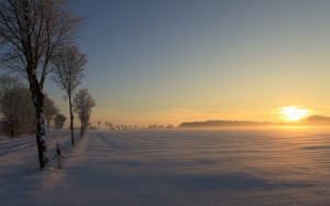 beautiful clear German Winter Sunset Nature Sunsets HD Wallpaper