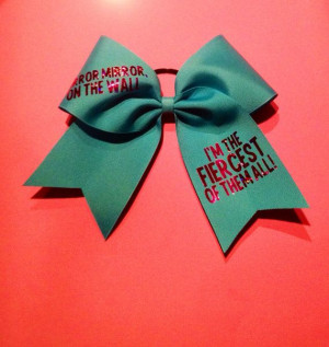 Fiercest Of Them All Cheer Bow on Etsy, $12.00 cute. something else i ...