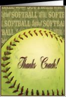 Thanks Coach Softball Card