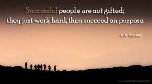 Success Quotes-Quotes-G.K. Nielson-Successful people-Hard Work