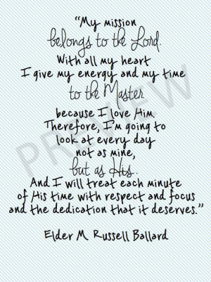 Missionary Quote - M. Russell Ballard