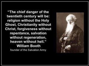 William Booth quote - The chief danger of the 20th century will be ...