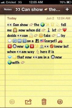 Emoji text messages
