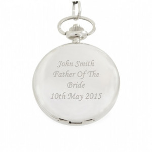 Engraved Pocket Watch and Chain