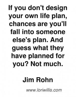 ... Quotes › Jim Rohn Quotes, motivation, entrepreneur quote, plan your