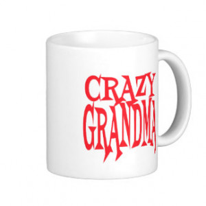 Crazy Grandma in Red Classic White Coffee Mug