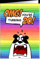 OMG! you're turning 20! card - Product #202680