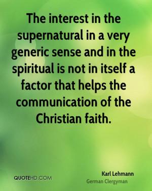 Karl Lehmann Faith Quotes