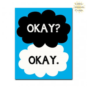 ... Okay. Quote - The Fault in Our Stars - Inspirational Quote - Wall Art