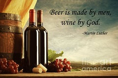 Alcohol Quotes Art - Wine God Quote by John Lehman