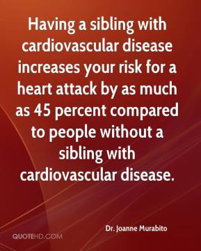 Having a sibling with cardiovascular disease increases your risk for a ...