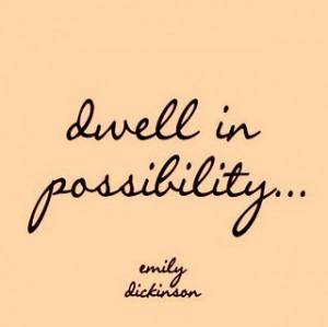 Dawn Billings, dwell in possibility
