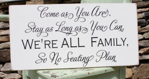No Seating Place custom wedding sign photo prop by back40life